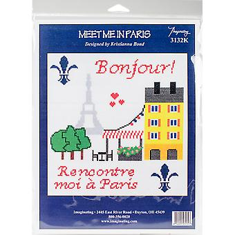 Meet Me In Paris Counted Cross Stitch Kit-8.5