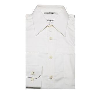 Yves Saint Laurent mannen punt kraag katoen jurk Shirt Wit