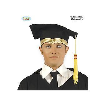 Cappelli Cappello di graduazione con bordo dorato