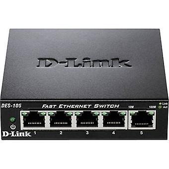 D-Link DES-105 Network RJ45 switch 5 ports 100 Mbps