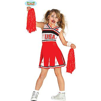 Børns kostumer zombie cheerleader for piger
