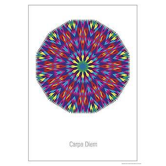 Mandala Carpe Diem Poster  Lichtgitter-Mandala Kleinformat