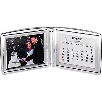 David Van Hagen plateado plegable marco de foto de calendario - plata
