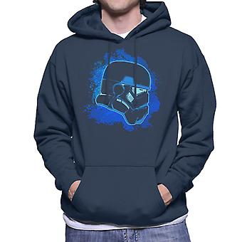 Original Stormtrooper Blue Silhouette Men's Hooded Sweatshirt