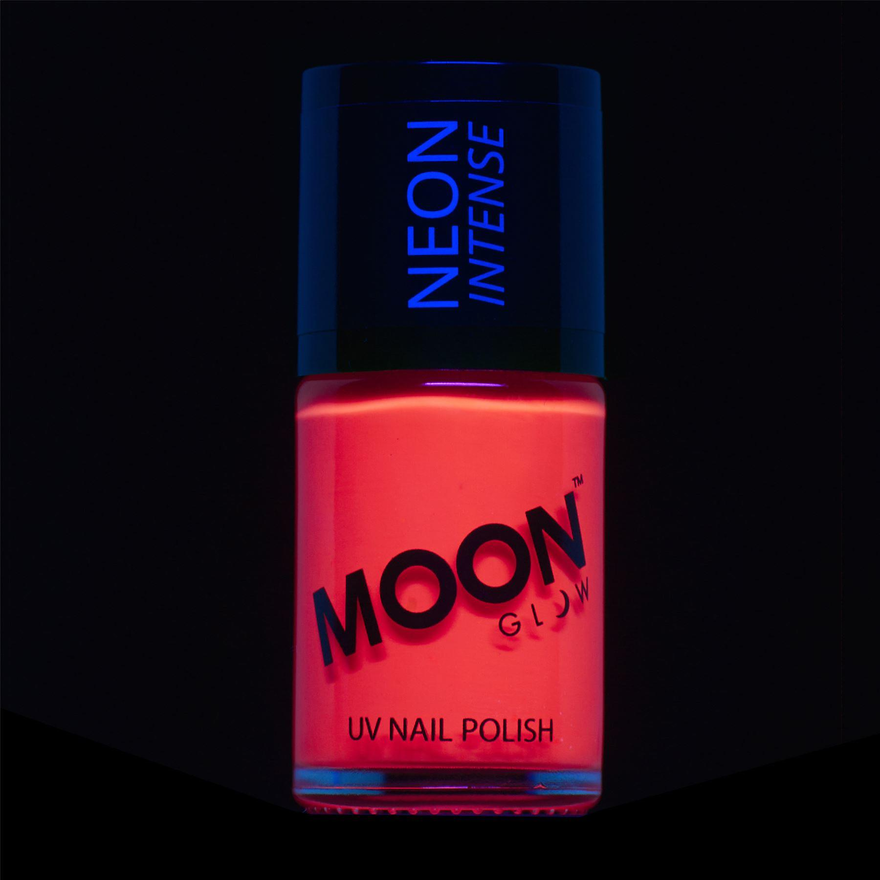 Moon Glow - 14ml Neon UV Nail Varnish - Intense Red