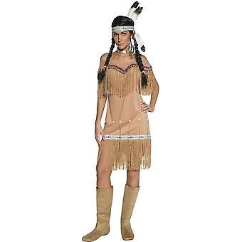Smiffy des authentischen Western Indian Lady Kostüm