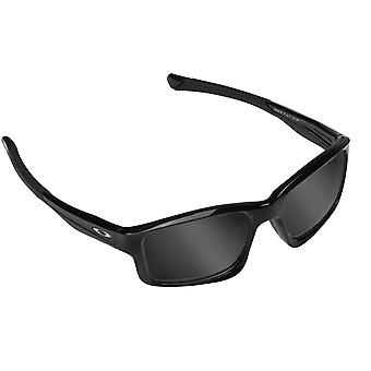 CHAINLINK Replacement Lenses Polarized Black & Black Iridium by SEEK fits OAKLEY