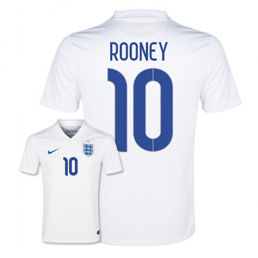2014-15 England World Cup Home Shirt (Rooney 10)