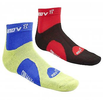 Racesoc Mid Lime/Blue And Black/Red (Twin Pack)