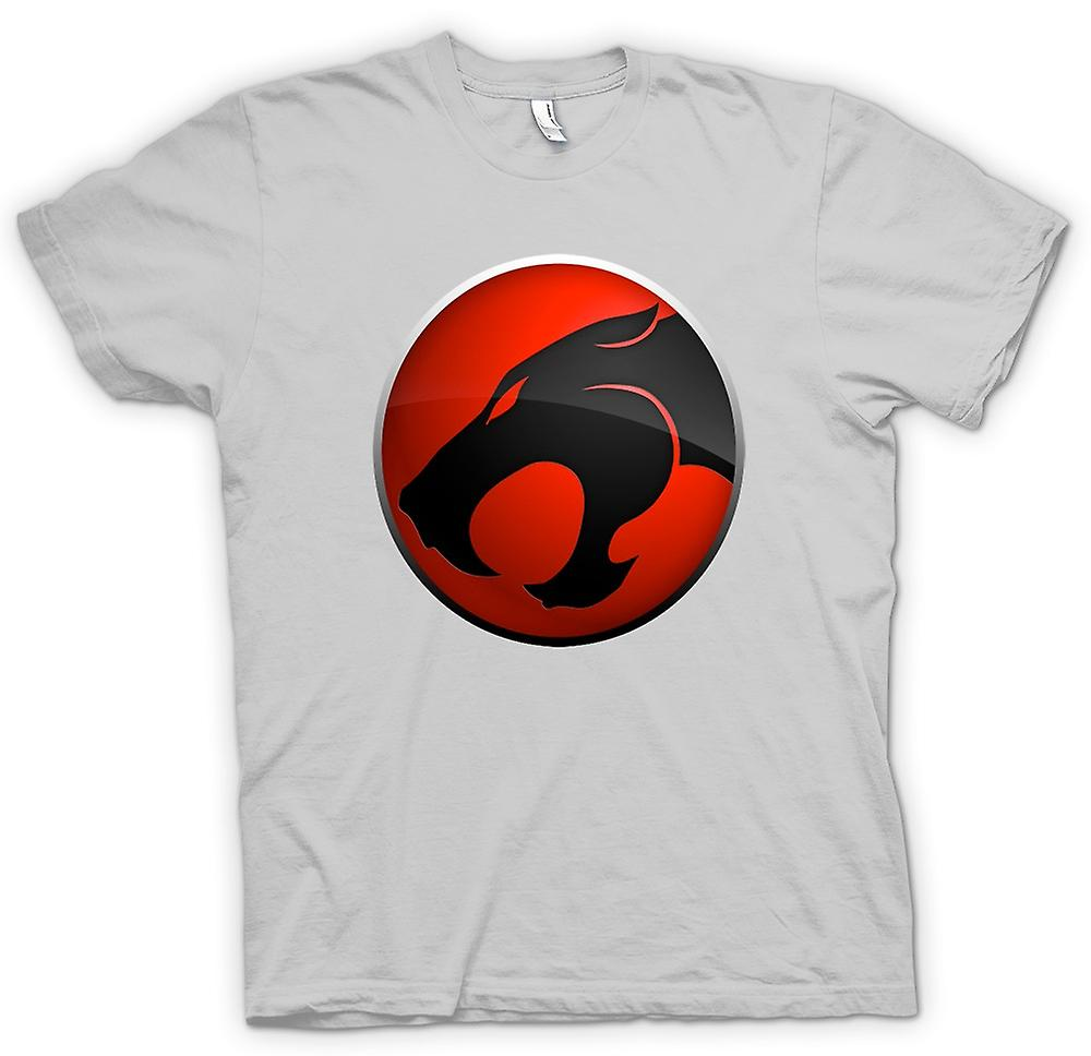 Mens t-skjorte-Thundercats Red / Black Logo