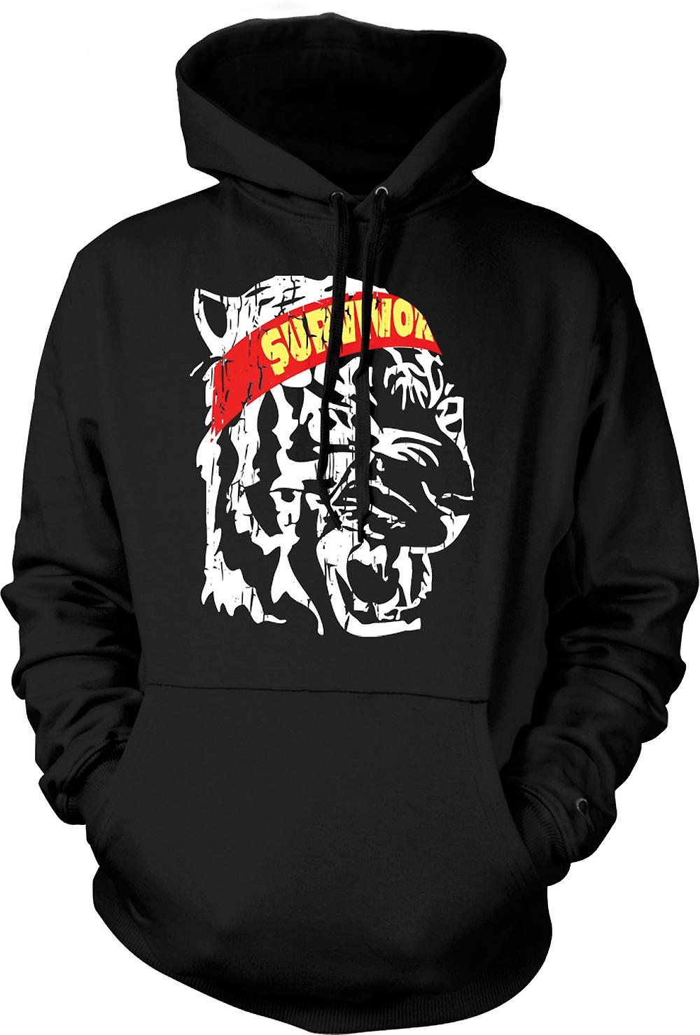 Mens Hoodie - Survivor - Eye Of The Tiger