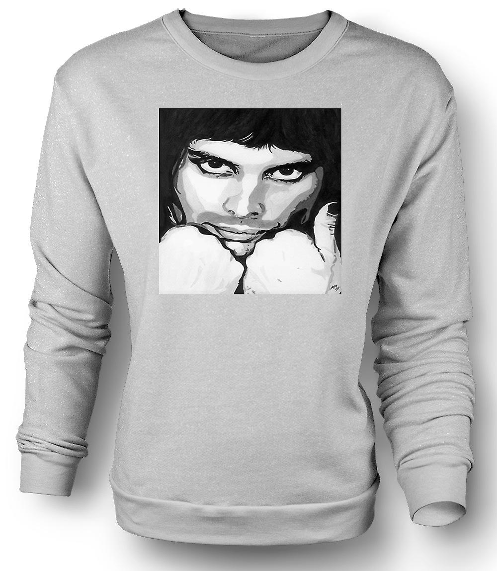 Mens Sweatshirt Freddie Mercury Queen - Pop Art
