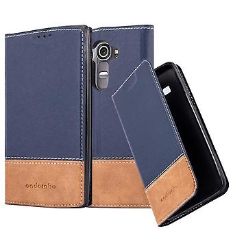 Cadorabo case for LG G4 / G4 PLUS - mobile case with stand function and compartment of a combination of synthetic leather - case cover sleeve pouch bag book