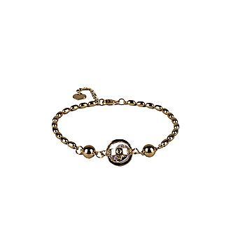 Lovemystyle guld pärla armband med bur Diamante
