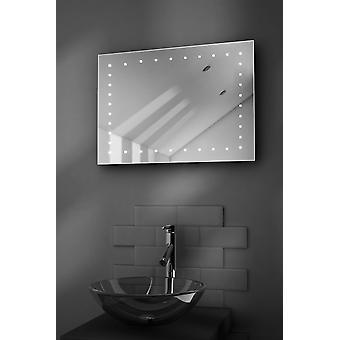 Clara Ultra-Slim LED Bathroom Mirror With Demister Pad & Sensor k164