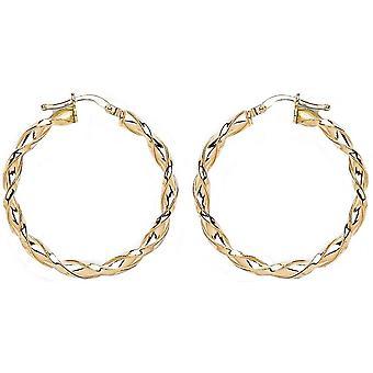 Bella 25mm Twisted Hoop Earrings - Gold