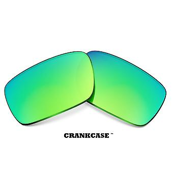CRANKCASE Replacement Lenses Polarized Green Mirror by SEEK fits OAKLEY