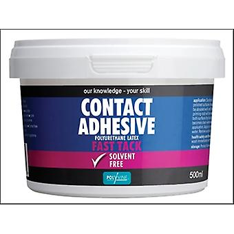 Polyvine Contact Adhesive Solvent Free Fast Tack 500ml