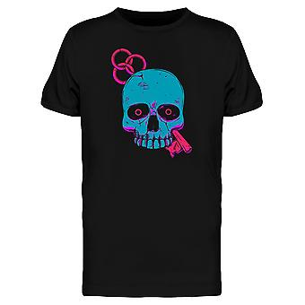 Psychedelic Blue Skull Key Art Tee Men's -Image by Shutterstock