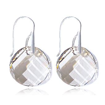 Ah! Jewellery Sterling Silver Silver Shade Crystals From Swarovski Twist Earrings, Stamped 925.