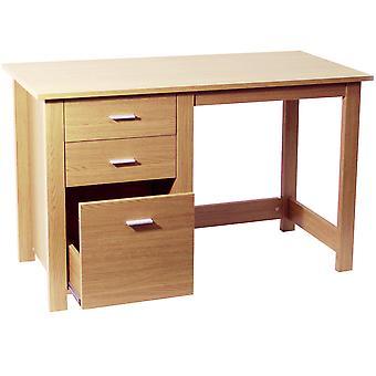 Montrose - Home Office Storage Desk / Computer Workstation - Beech