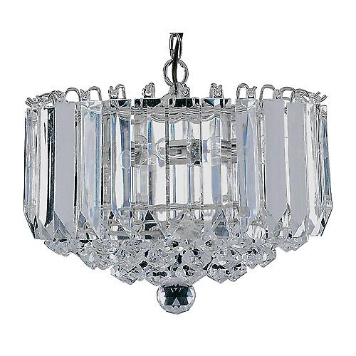 Searchlight 6715CC Sigma Chrome Acrylic Pendant 4 Light Prisms And Balls