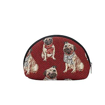 Pug cosmetic bag by signare tapestry / cosm-pug