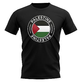 Palestine Football Badge T-Shirt (Black)