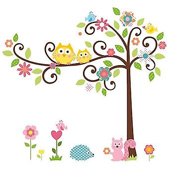 Väggdekor - Färgstarkt Träd 120 x 110 cm.