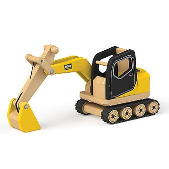 Tidlo Wooden Digger Construction Toy Vehicles Play Set