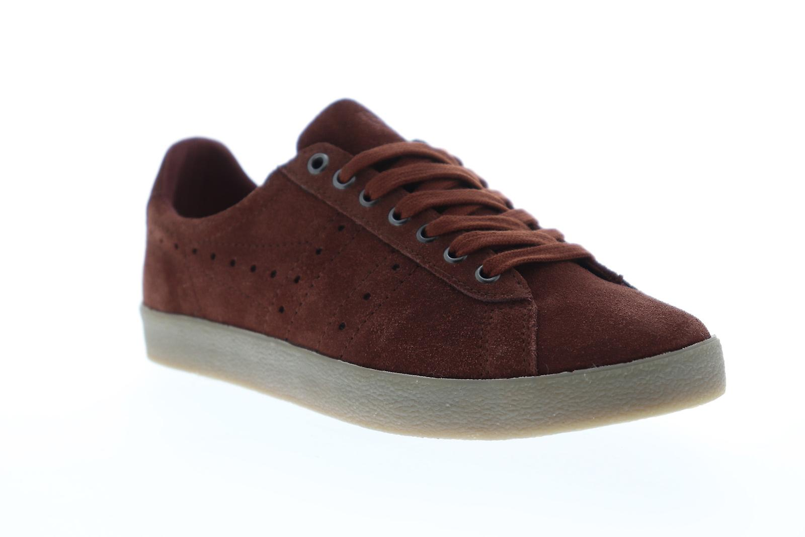 Gola Tourist Mens rouge Suede Low Top Lace Up baskets Chaussures