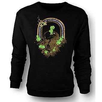 Womens Sweatshirt Skull Grunge Rainbow Drawing