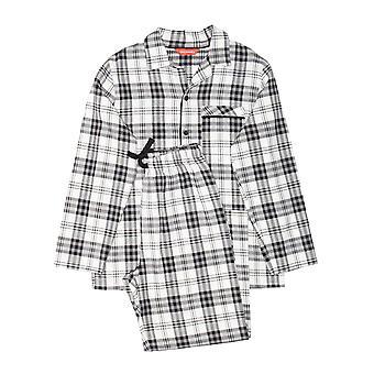 Minijammies 6375 Boy's Isaac Grey Mix Check Cotton Pyjama Set