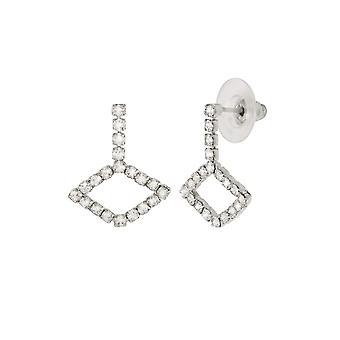 Eternal Collection Concerto Diamante Silver Tone Drop Pierced Earrings
