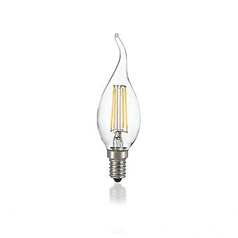 Ideal Lux Light Bulb Classic E14 4W Colpo Di Vento Trasp 4000K