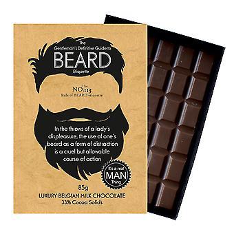 Roliga presenter till skäggiga män och skägg älskare boxed choklad gratulationskort present BTQ113