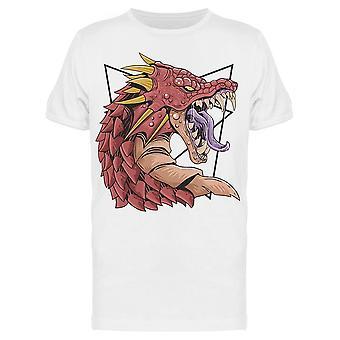 Fantastico Dragon Head Tee Uomini's -Immagine di Shutterstock