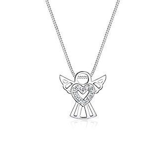 Elli Damen Halskette in Silber 925 mit Kristall - Engel