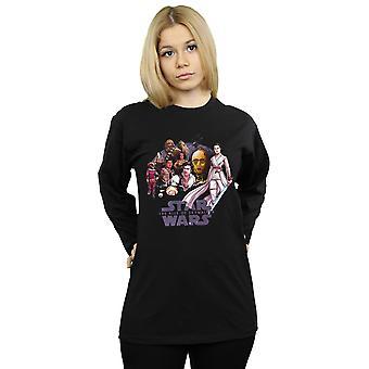 Star Wars The Rise Of Skywalker Resistance Rendered Group Long Sleeved T-Shirt Women's Boyfriend Fit