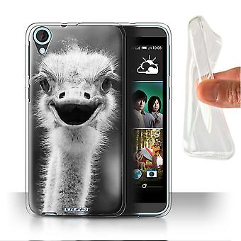STUFF4 Gel/TPU Case/Cover for HTC Desire 820s Dual/Ostrich/Emu/Mono Zoo Animals