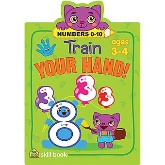 Train Your Hand Skill Book-Numbers 0-10 SZTYHSB-06434