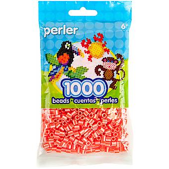 Perler Striped Beads 1000 Pkg Hot Coral Pearl Psbb05 15148
