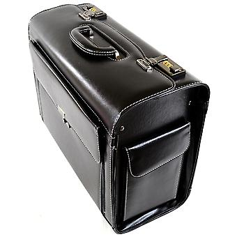 Mens / Womens Black Executive / Professional / Business Pilot Case / Carry / Travel Case