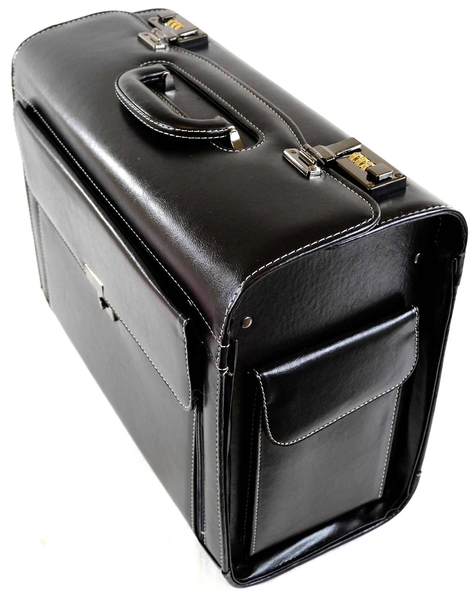 Mens / Womens Black Executive / Professional / Business Pilot Case / Carry / Travel Case