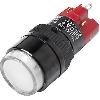 Pushbutton switch 250 Vac 5 A 1 x Off/On DECA D16LAR1-1abJW IP40 latch 1 pc(s)