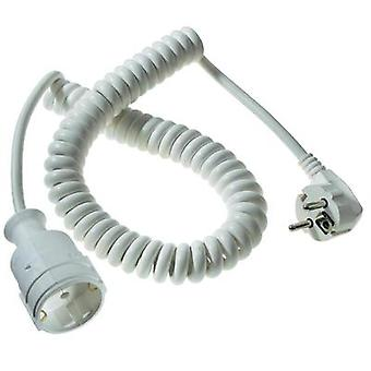 Current Extension cable [ PG right-angle plug - PG connector] 16 A White 2.50 m Spiral cable as - Schwabe 70412