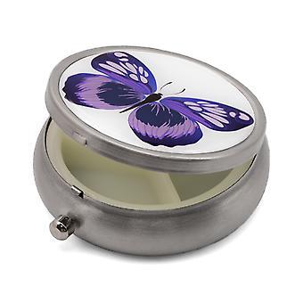 حبوب منع الحمل المربع مع طباعة الفراشة