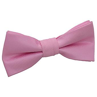 Light Pink Solid Check Pre-Tied Bow Tie for Boys
