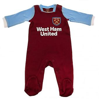 West Ham United Sleepsuit 9/12 mths