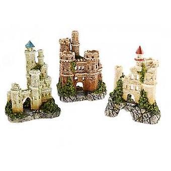 Castillo de edificios de carácter clásico surtido 100mm (paquete de 3)